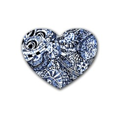 Zentangle Mix 1216b Heart Coaster (4 pack)