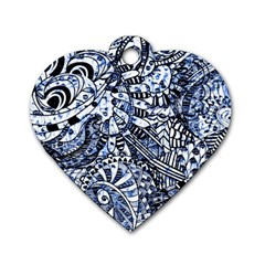 Zentangle Mix 1216b Dog Tag Heart (Two Sides)