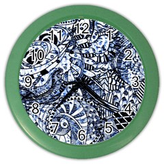 Zentangle Mix 1216b Color Wall Clocks