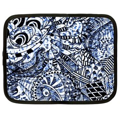 Zentangle Mix 1216b Netbook Case (Large)