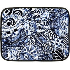 Zentangle Mix 1216b Fleece Blanket (Mini)