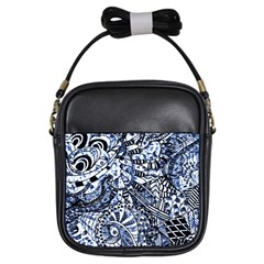 Zentangle Mix 1216b Girls Sling Bags