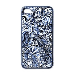 Zentangle Mix 1216b Apple iPhone 4 Case (Black)