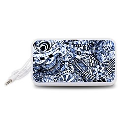 Zentangle Mix 1216b Portable Speaker (White)