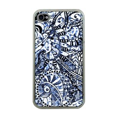 Zentangle Mix 1216b Apple iPhone 4 Case (Clear)