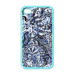 Zentangle Mix 1216b Apple iPhone 4 Case (Color)