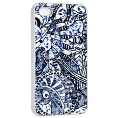 Zentangle Mix 1216b Apple iPhone 4/4s Seamless Case (White)