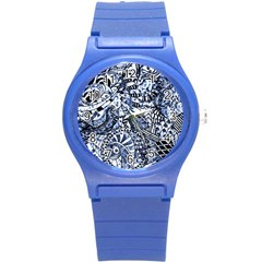 Zentangle Mix 1216b Round Plastic Sport Watch (S)
