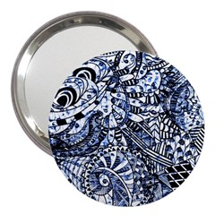 Zentangle Mix 1216b 3  Handbag Mirrors