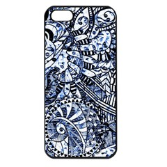 Zentangle Mix 1216b Apple iPhone 5 Seamless Case (Black)