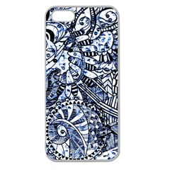 Zentangle Mix 1216b Apple Seamless iPhone 5 Case (Clear)