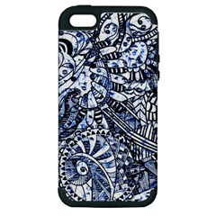 Zentangle Mix 1216b Apple iPhone 5 Hardshell Case (PC+Silicone)