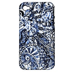 Zentangle Mix 1216b Apple iPhone 4/4S Hardshell Case (PC+Silicone)