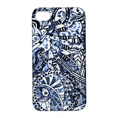 Zentangle Mix 1216b Apple iPhone 4/4S Hardshell Case with Stand