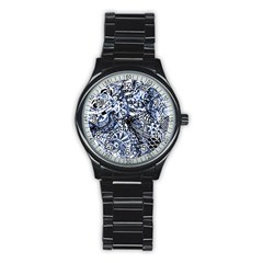 Zentangle Mix 1216b Stainless Steel Round Watch