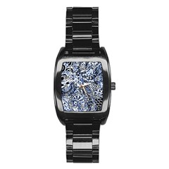 Zentangle Mix 1216b Stainless Steel Barrel Watch