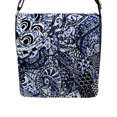 Zentangle Mix 1216b Flap Messenger Bag (L)