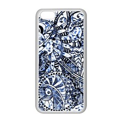 Zentangle Mix 1216b Apple iPhone 5C Seamless Case (White)