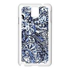 Zentangle Mix 1216b Samsung Galaxy Note 3 N9005 Case (White)