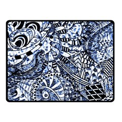 Zentangle Mix 1216b Double Sided Fleece Blanket (Small)