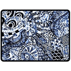 Zentangle Mix 1216b Double Sided Fleece Blanket (Large)