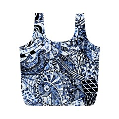 Zentangle Mix 1216b Full Print Recycle Bags (M)