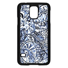 Zentangle Mix 1216b Samsung Galaxy S5 Case (Black)