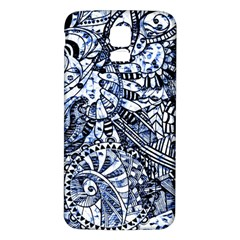 Zentangle Mix 1216b Samsung Galaxy S5 Back Case (White)