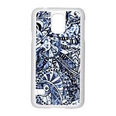 Zentangle Mix 1216b Samsung Galaxy S5 Case (White)