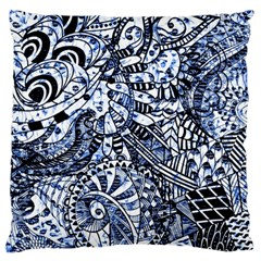 Zentangle Mix 1216b Large Flano Cushion Case (Two Sides)