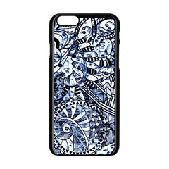 Zentangle Mix 1216b Apple iPhone 6/6S Black Enamel Case