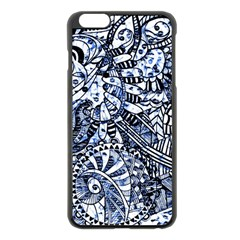 Zentangle Mix 1216b Apple iPhone 6 Plus/6S Plus Black Enamel Case