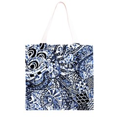 Zentangle Mix 1216b Grocery Light Tote Bag