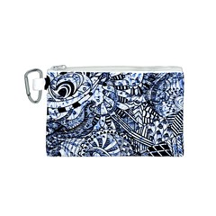 Zentangle Mix 1216b Canvas Cosmetic Bag (S)