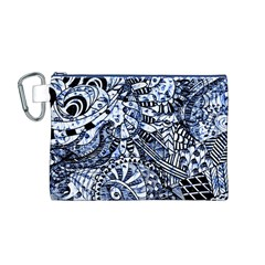Zentangle Mix 1216b Canvas Cosmetic Bag (M)