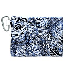 Zentangle Mix 1216b Canvas Cosmetic Bag (XL)