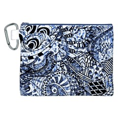 Zentangle Mix 1216b Canvas Cosmetic Bag (XXL)