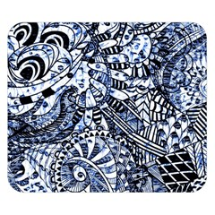 Zentangle Mix 1216b Double Sided Flano Blanket (Small)