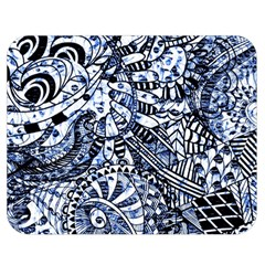 Zentangle Mix 1216b Double Sided Flano Blanket (Medium)