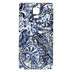 Zentangle Mix 1216b Galaxy Note 4 Back Case