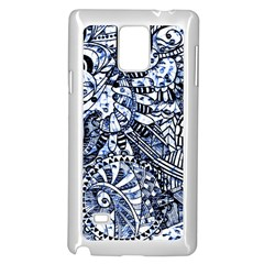 Zentangle Mix 1216b Samsung Galaxy Note 4 Case (White)