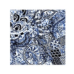 Zentangle Mix 1216b Small Satin Scarf (Square)