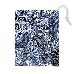 Zentangle Mix 1216b Drawstring Pouches (Extra Large)