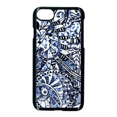Zentangle Mix 1216b Apple iPhone 7 Seamless Case (Black)