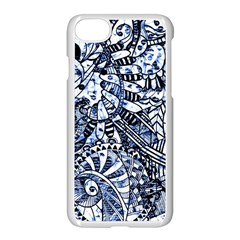 Zentangle Mix 1216b Apple iPhone 7 Seamless Case (White)