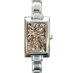 Zentangle Mix 1216c Rectangle Italian Charm Watch