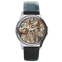 Zentangle Mix 1216c Round Metal Watch