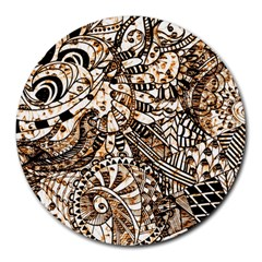 Zentangle Mix 1216c Round Mousepads