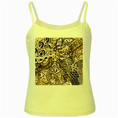 Zentangle Mix 1216c Yellow Spaghetti Tank