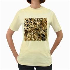 Zentangle Mix 1216c Women s Yellow T-Shirt